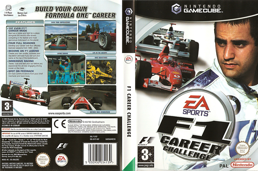 F1 Career Challenge GameCube cover (GFCP69)