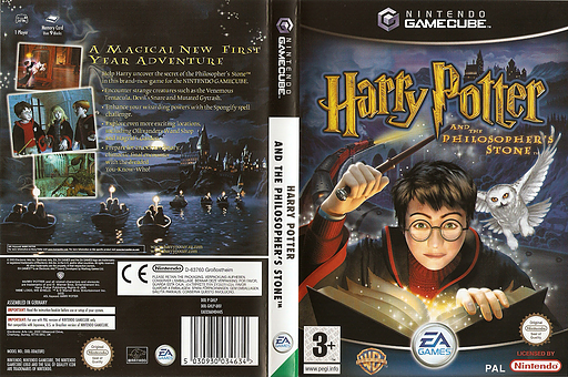 Harry Potter and the Philosopher's Stone GameCube cover (GHLP69)