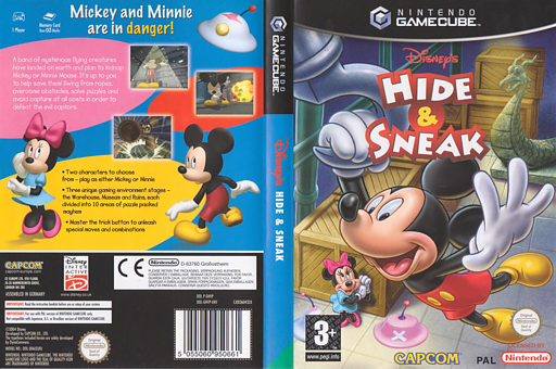 Disney's Hide & Sneak GameCube cover (GHVP08)