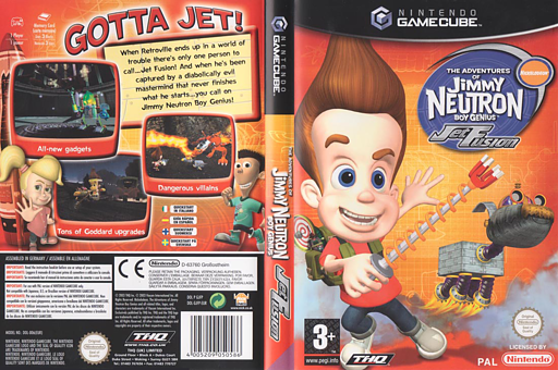 Jimmy Neutron Jet Fusion GameCube cover (GJFP78)