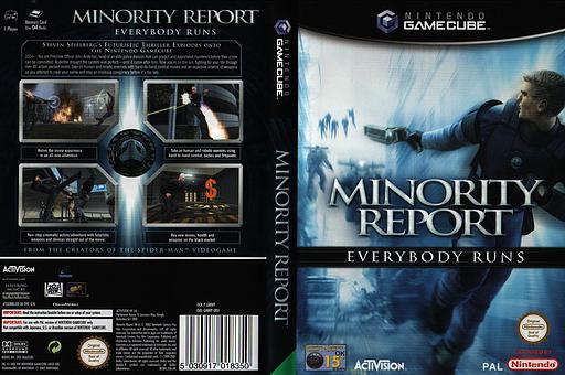 Minority Report: Everybody Runs GameCube cover (GMWP52)