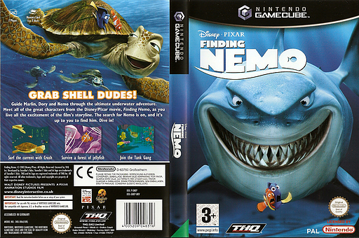 Finding Nemo GameCube cover (GNEP78)