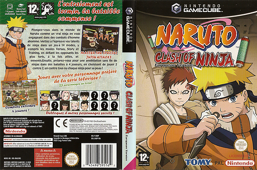 Naruto: Clash of Ninja - European Version GameCube cover (GNUPDA)