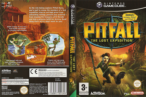 Pitfall: The Lost Expedition GameCube cover (GPHF52)