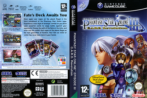 Phantasy Star Online Episode III: C.A.R.D. Revolution GameCube cover (GPSP8P)