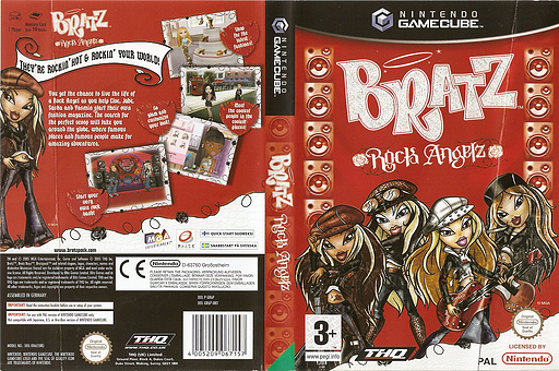 Bratz: Rock Angelz GameCube cover (GR6P78)