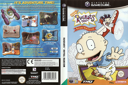 Rugrats: Royal Ransom GameCube cover (GRRP78)