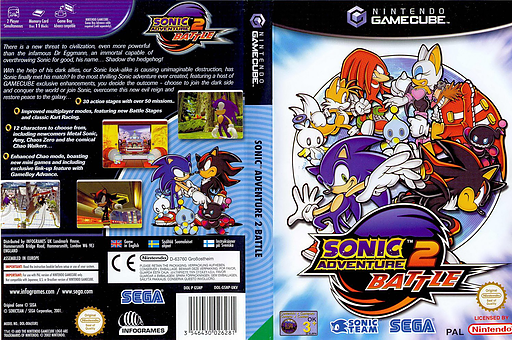 Sonic Adventure 2: Battle GameCube cover (GSNP8P)