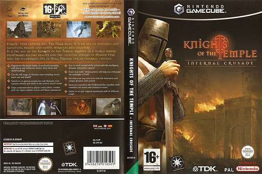 Knights Of The Temple:Infernal Crusade GameCube cover (GTPP6S)