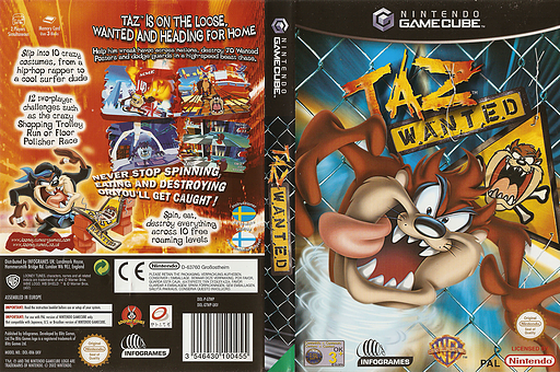 Taz Wanted GameCube cover (GTWP70)