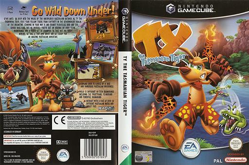 Tythe Tasmanian Tiger GameCube cover (GTYP69)
