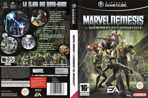 Marvel Nemesis: Rise of the Imperfects GameCube cover (GVLF69)