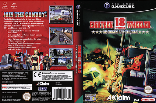 18 Wheeler American Pro Trucker GameCube cover (GWEP8P)