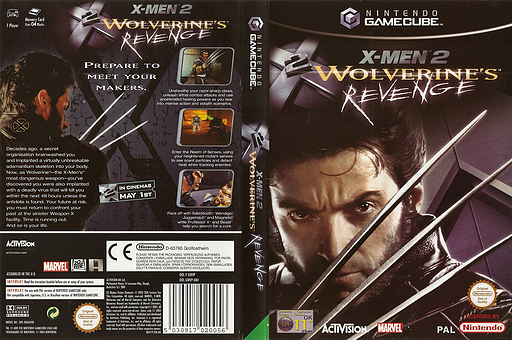 X-Men 2: Wolverine's Revenge GameCube cover (GWVP52)