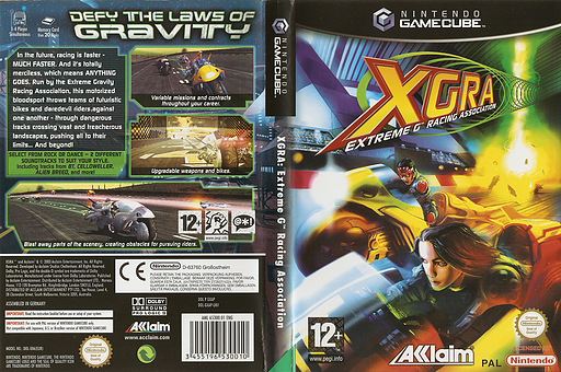 XGRA Extreme G Racing Association GameCube cover (GXAP51)