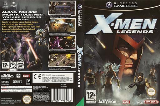 X-Men Legends GameCube cover (GXLP52)