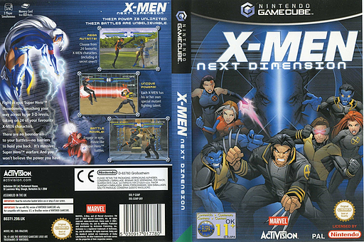 X-Men: Next Dimension GameCube cover (GXMP52)
