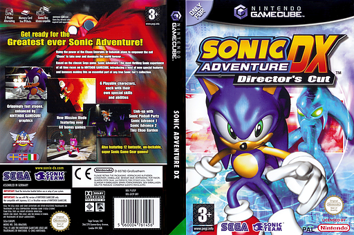 Sonic Adventure DX: Director's Cut GameCube cover (GXSP8P)