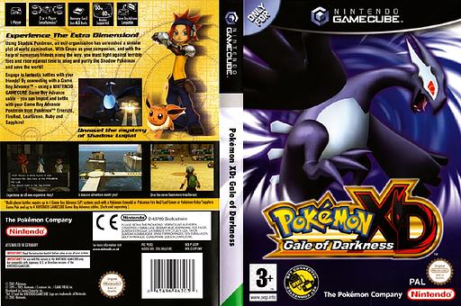 Pokémon XD: Gale of Darkness GameCube cover (GXXP01)