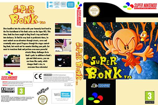 Super Bonk VC-SNES cover (JD9M)