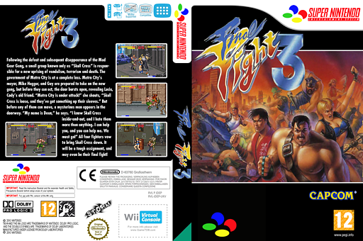 Final Fight 3 VC-SNES cover (JDEP)