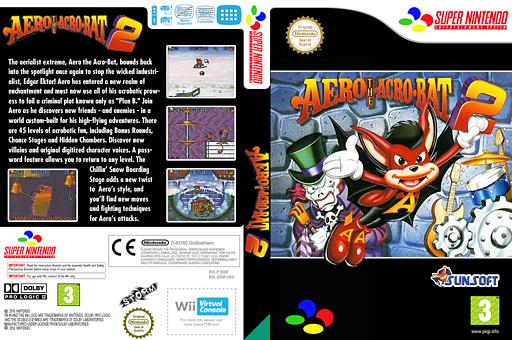 Aero the Acrobat 2 VC-SNES cover (JDXP)