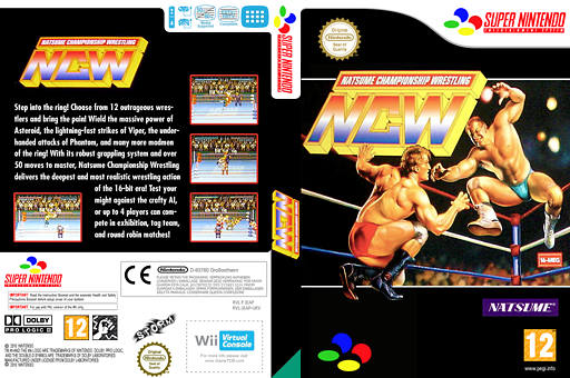 Natsume Championship Wrestling VC-SNES cover (JEAP)