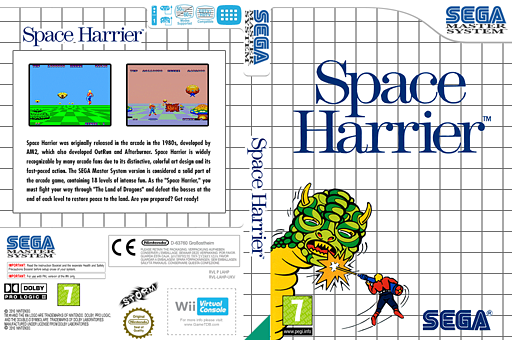 Space Harrier VC-SMS cover (LAHP)