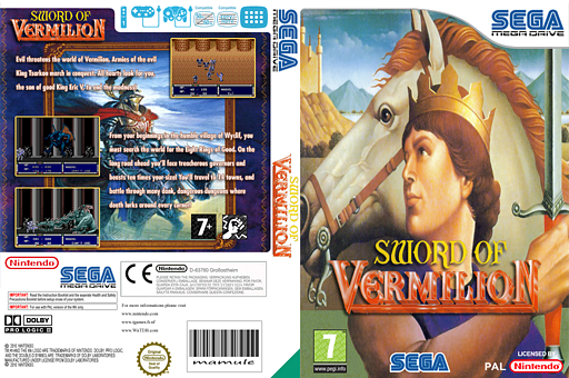 Sword of Vermilion VC-MD cover (MAMP)