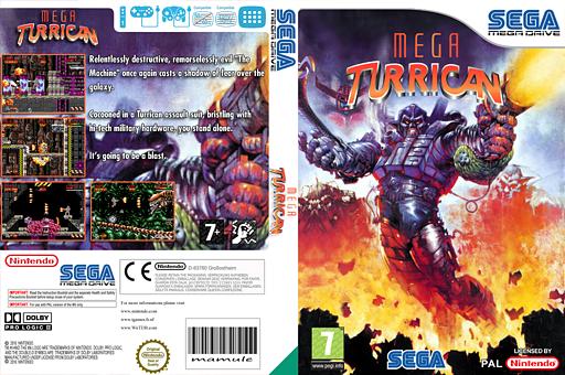 Mega Turrican VC-MD cover (MB7P)