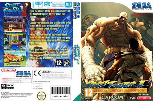 Street Fighter II': Special Champion Edition VC-MD cover (MCLP)