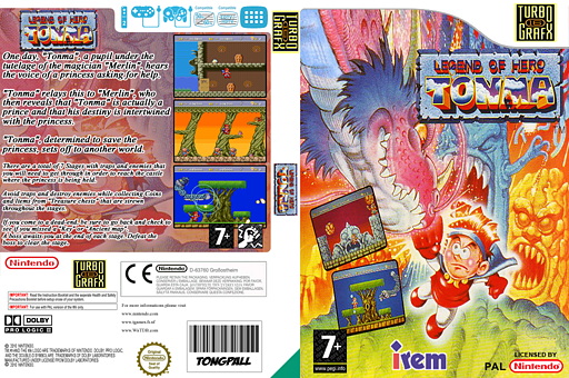 Legend of Hero Tonma VC-PCE cover (PBMP)