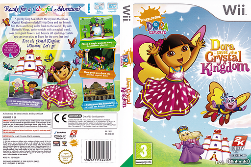 Dora Saves the Crystal Kingdom Wii cover (R27X54)