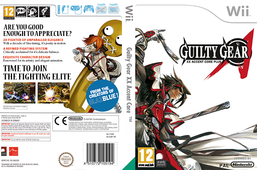 Guilty Gear XX Accent Core Plus Wii cover (R3NPH3)