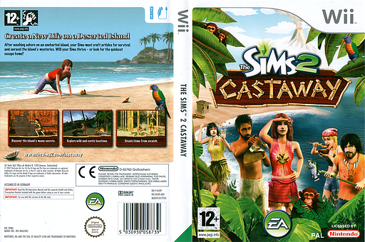 The Sims 2: Castaway Wii cover (R42P69)