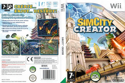 SimCity Creator Wii cover (R4CP69)