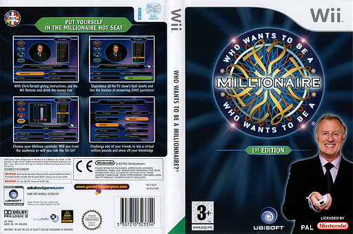 Who Wants To Be A Millionaire: 1st Edition Wii cover (R55P41)