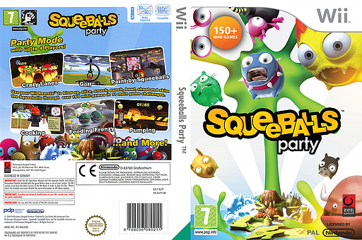 Squeeballs Party Wii cover (R6YPH3)