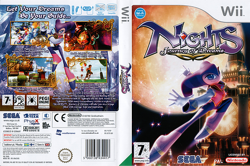 NiGHTS: Journey of Dreams Wii cover (R7EP8P)