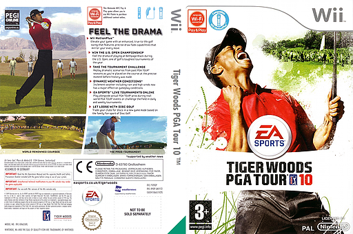 Tiger Woods PGA Tour 10 Wii cover (R9OP69)