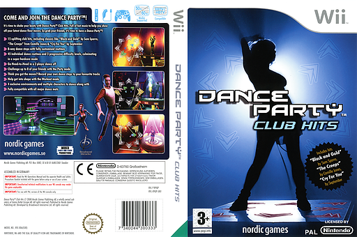 Dance Party Club Hits Wii cover (R9QPNG)