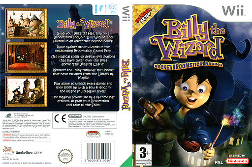 Billy the Wizard: Rocket Broomstick Racing Wii cover (RBZXUG)