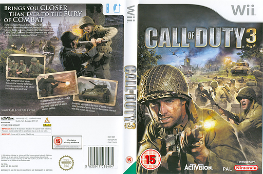 Call of Duty 3 Wii cover (RCDD52)