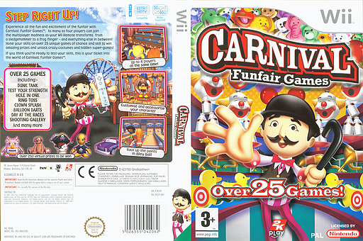 Carnival Games Wii cover (RCGP54)