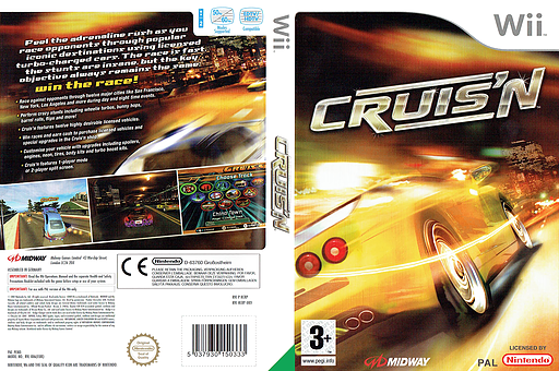 Cruis'n Wii cover (RCRP5D)
