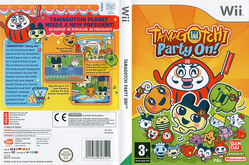 Tamagotchi: Party On! Wii cover (RDTPAF)