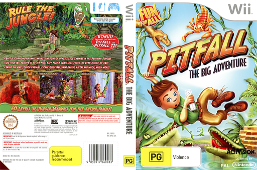 Pitfall: The Big Adventure Wii cover (RPFU52)