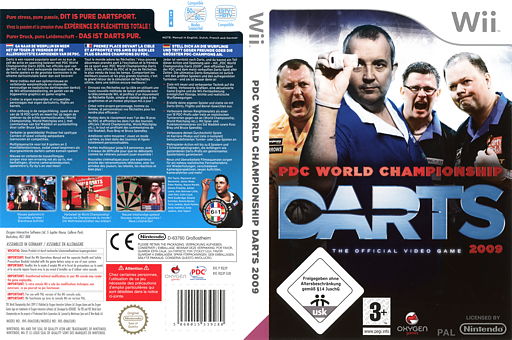 PDC World Championship Darts 2009 Wii cover (RQ3PGN)