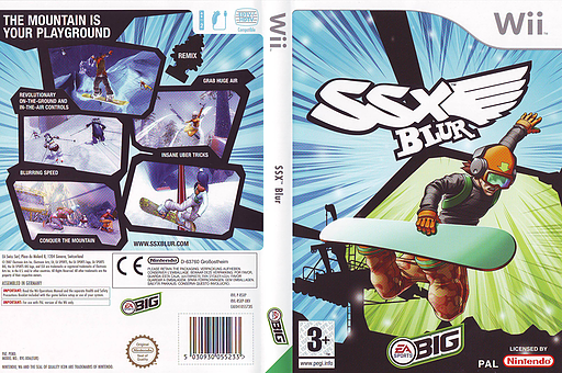 SSX Blur Wii cover (RSXP69)