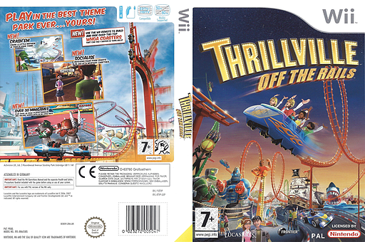 Thrillville: Off The Rails Wii cover (RTVP64)
